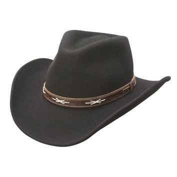 High Noon Shapeable Wool Western Hat (Black)