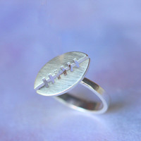 Rugby ball  RING in silver