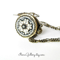 Victorian Time Filigree Locket-Vintage Inspired Locket-Something Blue Jewelry-Bridal Necklace-Bride Locket-Flower Locket-Photo Locket