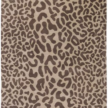 Athena Animal Area Rug Brown