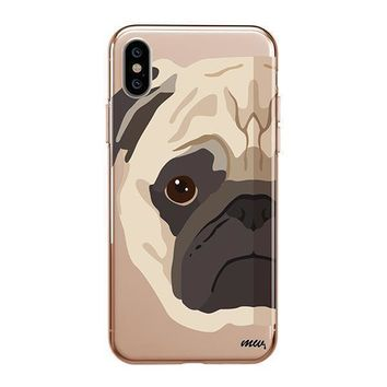 The Pug Case - iPhone Clear Case