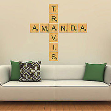 Shop Scrabble Wall Letters On Wanelo