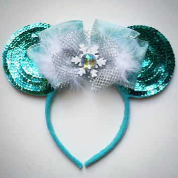 Custom Elsa Frozen Mouse Ears