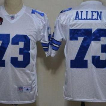 PEAPYD9 Cowboys #73 Larry Allen White Hall of Fame Class Mens NFL Throwback Jersey