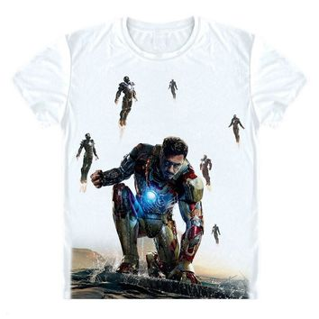 iron man t shirt women kids men love Gift tee shirt Robert Downey Jr avengers infinity war white t shirt superhero party tshirt