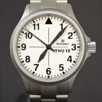 WatchMann.com Military Watches and Pilot Watches: Damasko DA37 Automatic Watch with Bracelet