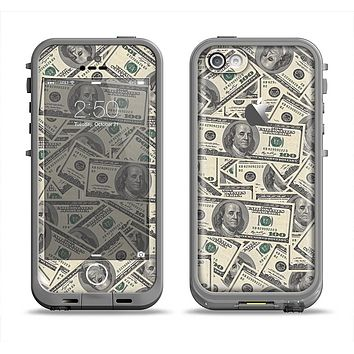 The Hundred Dollar Bill Apple iPhone 5c LifeProof Fre Case Skin Set