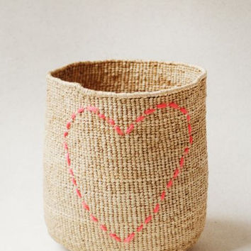 Indego Africa Heart Basket // Hand stitched