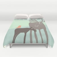 Moose Duvet Cover by Cecilia Andersson