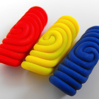 Set of 3 Dread Beads 5mm Primary Colors Spiral Dread Bead Dreadlock Jewelry Red Blue Yellow Perle Dread