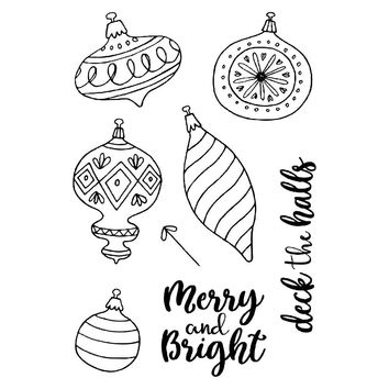 Merry Christmas Ball Set Silicone Stamp DIY scrapbooking/photo album Decor clear stamp Sheet 14*14cm