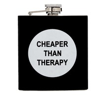 Cheaper Than Therapy Hip Flask - Multi