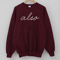 ANDCLOTHING — Burgundy Limited ALSO Sweater  SOLD OUT