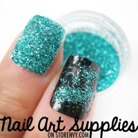 Aquamarine - Turquoise Blue Raw Nail Glitter Mix 3.5 Grams