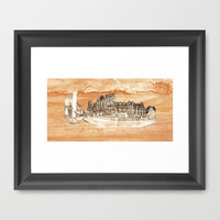 York Minster Panoramic on wood Framed Art Print by Robert Gipson
