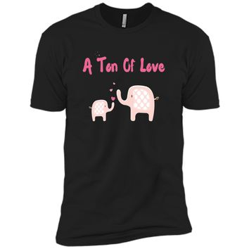 A Ton Of Love - Elephant Mom & Baby Girl Mothers Day T-Shirt