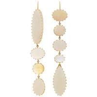 18K Gold Opal and Moonstone Earrings | Moda Operandi