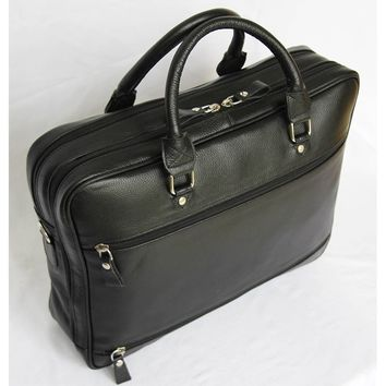 BOSS -Leather brown  briefcase MJ -Bag -Satchel -Moroccan Handmade Black