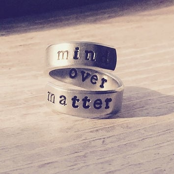 mind over matter spiral aluminum ring