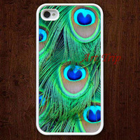 iPhone 4 Case, iphone 4s case -- peacock feather iPhone 4 Case, iphone case, case for iphone