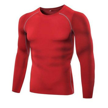 PEAPFS2 Men Breathable Outdoor Sports Tee Bodybuilding Gym Fitness Athletic Mens Running Elastic Slim T-shirt New