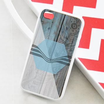 Wood iPhone 5 Case - Feather iPhone 5 Case - iPhone 5c Case - iPhone 4s Case - iPhone 4 Case