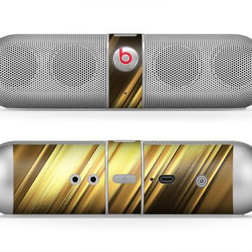 The Shimmering Slanted Gold Texture Skin for the Beats by Dre Pill Bluetooth Speaker