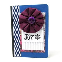 Joy Mini Journal - Mini Notebook - Holiday Journal - Christmas Journal - Stocking Stuffer - Hostess Gift - Joy Notebook - Violet