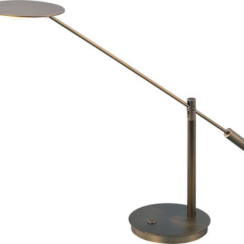 "0-003316>21""h Eco-Task 1-Light Table Lamp Bronze"