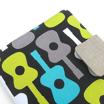 Nook Simple Touch Cover Kindle Fire Cover iPad Mini Cover Kobo Cover Case Groovey Mod Guitars Music eReader