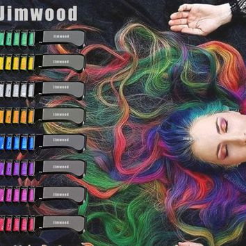 1pc Hair Mascara New Design Crayons mini Hair Color Chalk for the Hair Color Temporary Blue Hair Dye With Comb