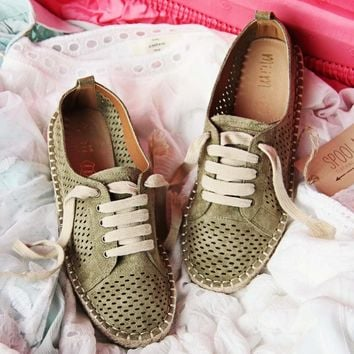 The London Sneaker Espadrille in Sage