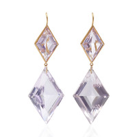 One-Of-A-Kind Amethyst XL Diamond Shape Earrings | Moda Operandi
