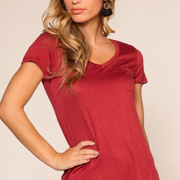 Kaylee Basic Top - Red