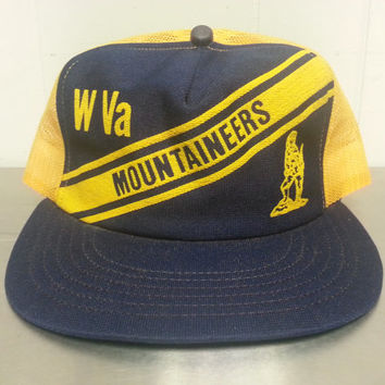 556c9e3e75f Vintage 50 s 60 s West Virginia Mountaineers Snapback Mesh Truck