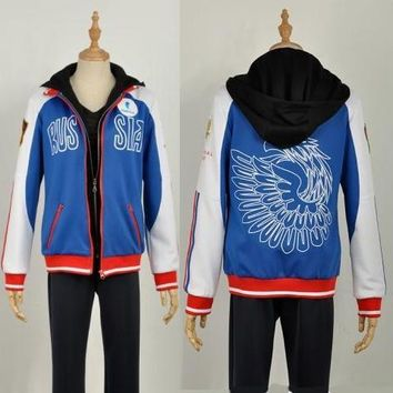 Yuri on Ice Yuri Plisetsky Cosplay Coat Yuri!!! on Ice Jacket Costume