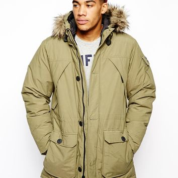 Penfield Hoosac Parka with Faux Fur Hood - Green