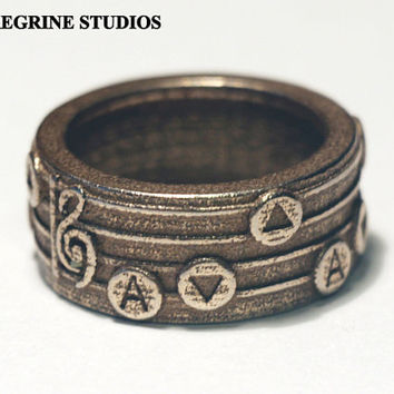 Legend of Zelda Songring  Sizes 6  13 by PeregrineStudios on Etsy