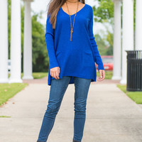 A Safe Bet Sweater, Royal Blue