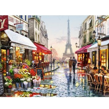DIY Oil Painting By Numbers Canvas Picture  Coloring Paint Acrylic Painting Calligraphy By Number Wall Decor Landscape