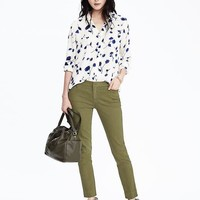 Sloan-Fit Garment-Dyed Slim Ankle Pant | Banana Republic