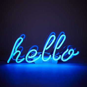 Neon Hello Light - Urban Outfitters