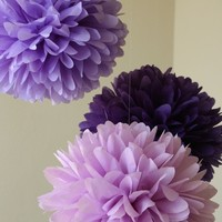 Pansy .. Tissue Paper Poms / Weddings / Bridal Shower / Baby Shower / Birthday / Party Decoration / DIY