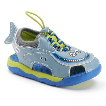 Zooligans Finn the Shark Toddler Boys' Sandals (Blue)