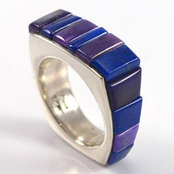 Lapis and Sugilite Ring