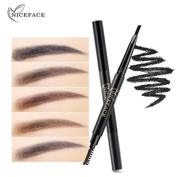 2017 High Quality Eyebrow Pencil Waterproof Automatically Rotating Makeup Eyebrow Pencil Double Ended With Eyebrow Brush