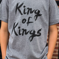 King of Kings Tee - Charcoal