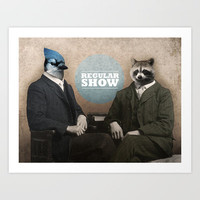 Mordecai & Rigby Art Print by Chase Kunz