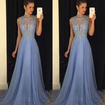 Ball Gown Hollow Out Prom Dress One Piece Dress [198524076058]