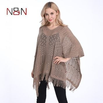 Summer Sexy Beach Cover Up Thin Sweater Women Solid Hollow Out Poncho  Pullovers Plus Size Cardigan And Sweaters